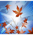 Fall in the big city vector image
