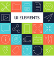 Line Art Modern Universal Web and Mobile Icons Set vector image