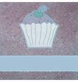 Retro card cupcake vector image