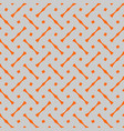 tile pattern with grey and orange background vector image