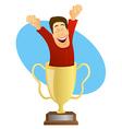 Winner Trophy vector image vector image