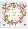 Mosaic Flower Card vector image