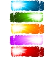 Swirl banners vector collection vector image