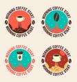 morning cofee start vector image