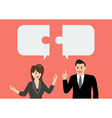 Business man and businesss woman in conversation vector image