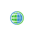 Ecology globe logo green technology graphic sing vector image