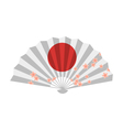 flat style of Japanese fan vector image