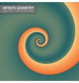 Infinite geometry Fractal background vector image