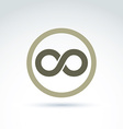 infinity icon isolated on white background vector image