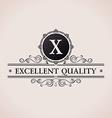 Luxury logo Calligraphic pattern elegant decor vector image