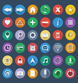 set of 36 software icons vector image