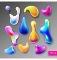 set of abstract bright colorful plasma drops vector image