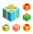 set of different gifts boxes vector image