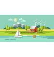Summer landscape house on the nature vector image