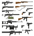 Weapons Guns Set vector image