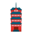 building temple japanese icon vector image