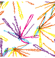 bright scribble lines vector image vector image