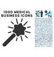 Wizard Tool Icon with 1000 Medical Business vector image