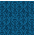 Seamless Damask Wallpaper 4 Blue Color vector image vector image