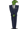 reptilians in suit vector image vector image