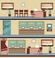 empty bank office interior vector image