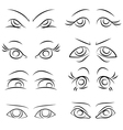 emotions Set of pairs of eyes vector image