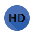 high definition flat icon vector image