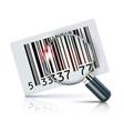 barcode sticker vector image