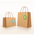 Recycle shopping brown bag vector image