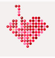 abstract mosaic heart for valentines day tetris vector image