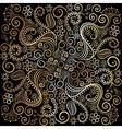 golden circular pattern on a dark background vector image