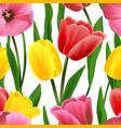 Tulip pattern seamless vector image