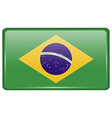 Flags Brazil in the form of a magnet on vector image