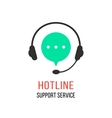 hotline support service with headphones vector image
