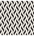 Seamless Black and White Wavy Vertical vector image