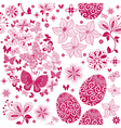 Monochrome Easter seamless pattern vector image