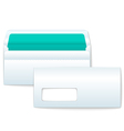 Opened and Closed Blank Envelopes vector image vector image