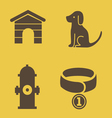 Dog theme icons vector image vector image