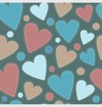 background multicolored suede heart vector image