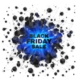 Black friday sale abstract shaded cubes blue vector image