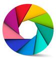 Colorful Circle Material Design Shape - Aperture vector image