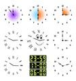 Funny clocks vector image