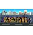 Graffiti wall background urban art vector image