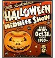 Halloween vintage poster vector image