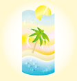 holiday beach coctail vector image