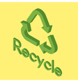 Icon of eco recycle vector image