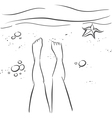 Legs and beach vector image