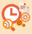time study and research tools and systems vector image