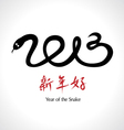 Year of the Snake 2013 Chinese Happy New Year vector image