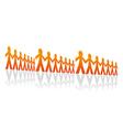 Rows of men vector image